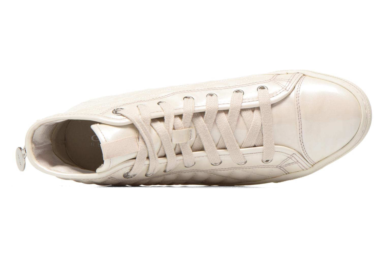Trainers Geox D NEW CLUB A D4258A White view from the left