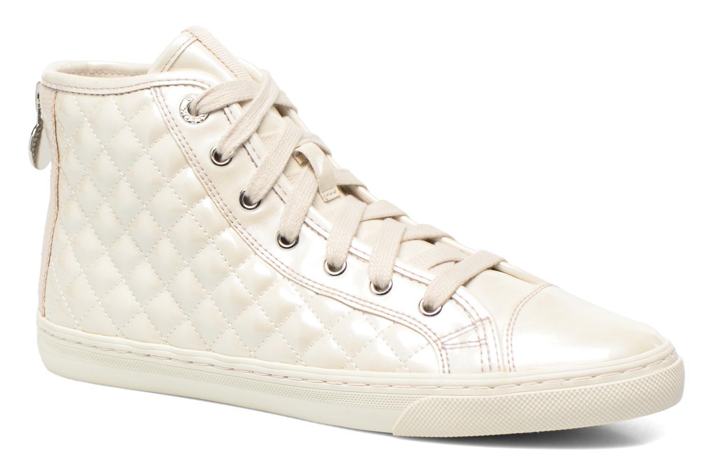Baskets Geox D NEW CLUB A D4258A Blanc vue détail/paire