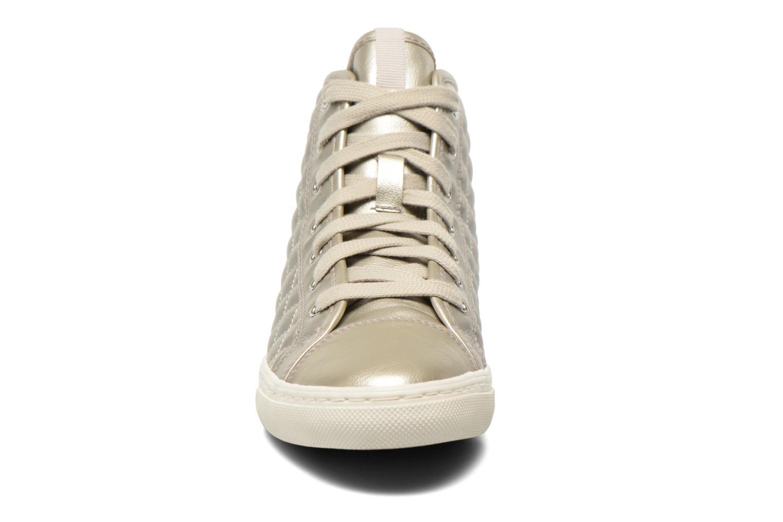 Baskets Geox D NEW CLUB A D4258A Argent vue portées chaussures