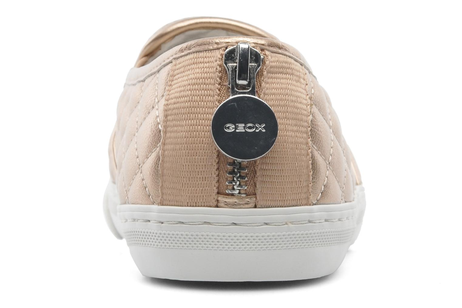 Trainers Geox D NEW CLUB C D5258C Bronze and Gold view from the right