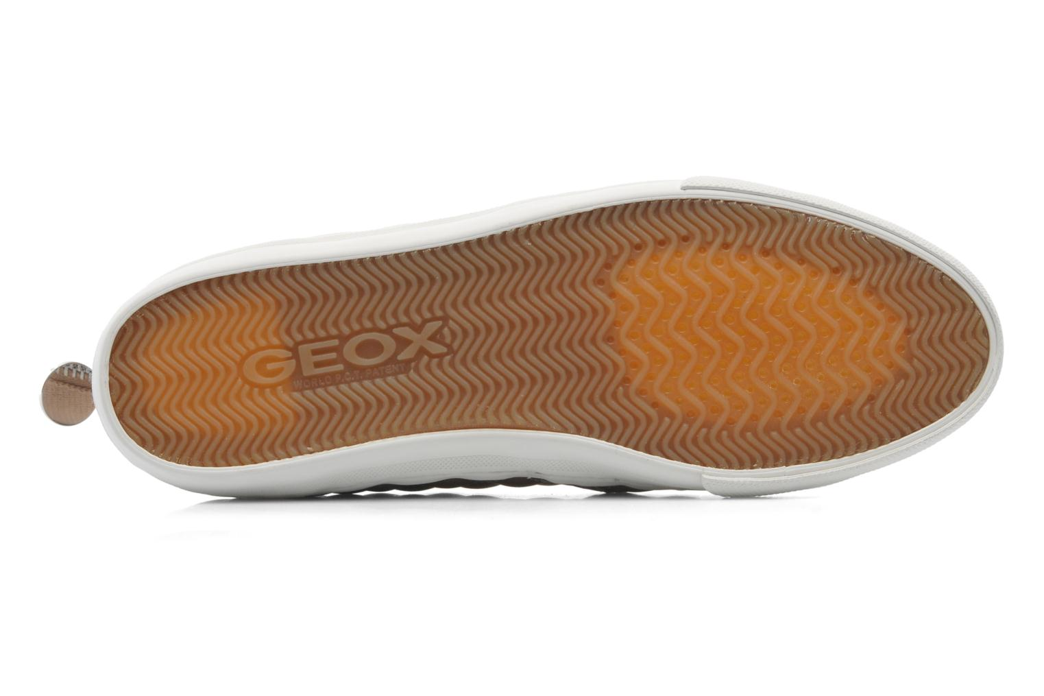 Trainers Geox D NEW CLUB C D5258C Bronze and Gold view from above