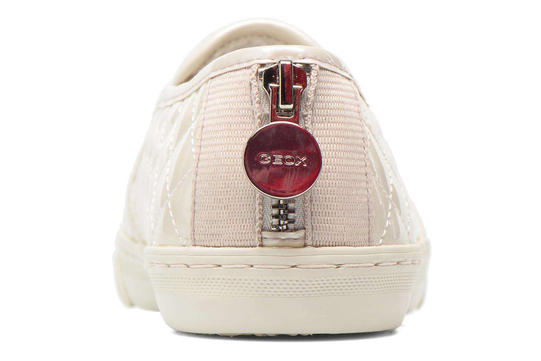 Sneakers Geox D NEW CLUB C D5258C Wit rechts