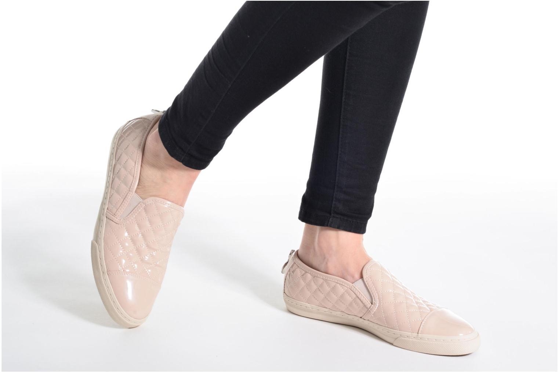 Sneaker Geox D NEW CLUB C D5258C silber ansicht von unten / tasche getragen
