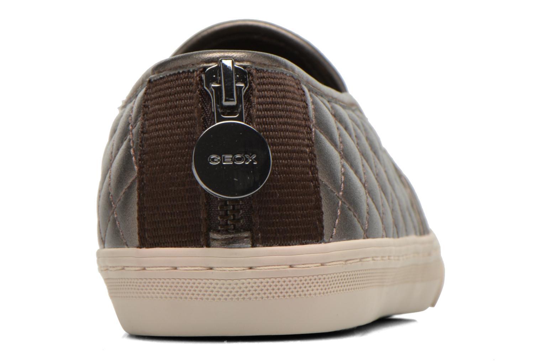 Sneaker Geox D NEW CLUB C D5258C silber ansicht von rechts