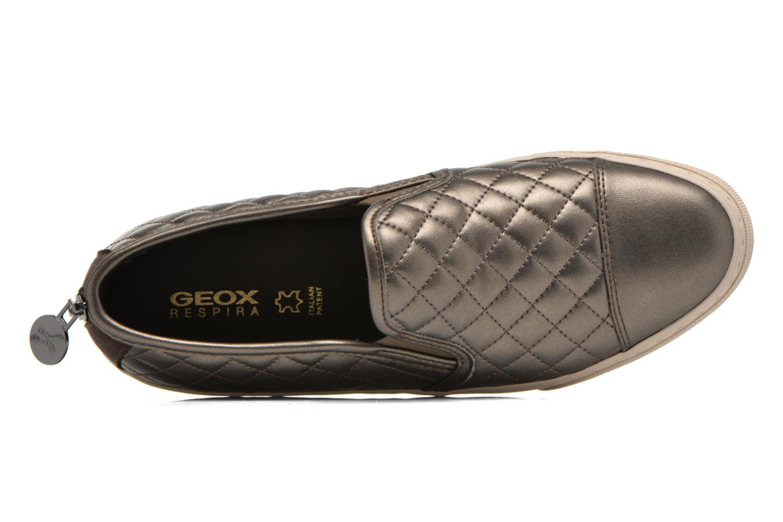 Sneaker Geox D NEW CLUB C D5258C silber ansicht von links