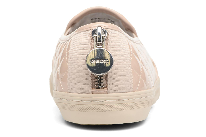 Sneakers Geox D NEW CLUB C D5258C Beige immagine destra