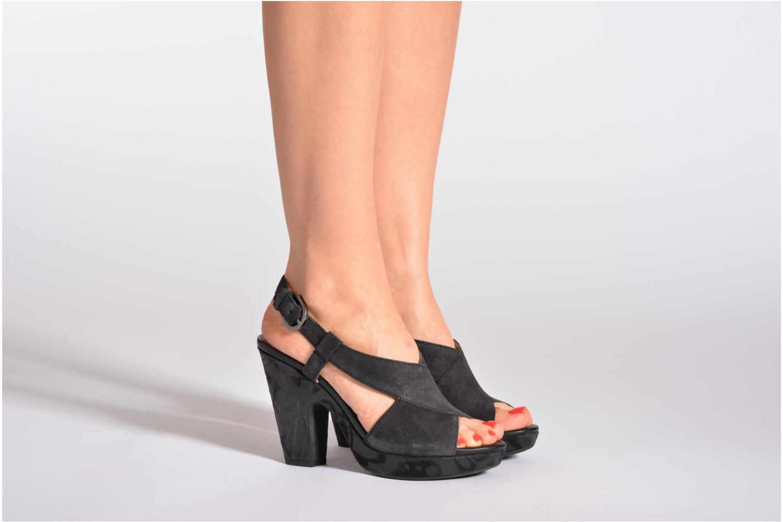 Sandali e scarpe aperte Geox D NURIT A D5271A Nero immagine dal basso