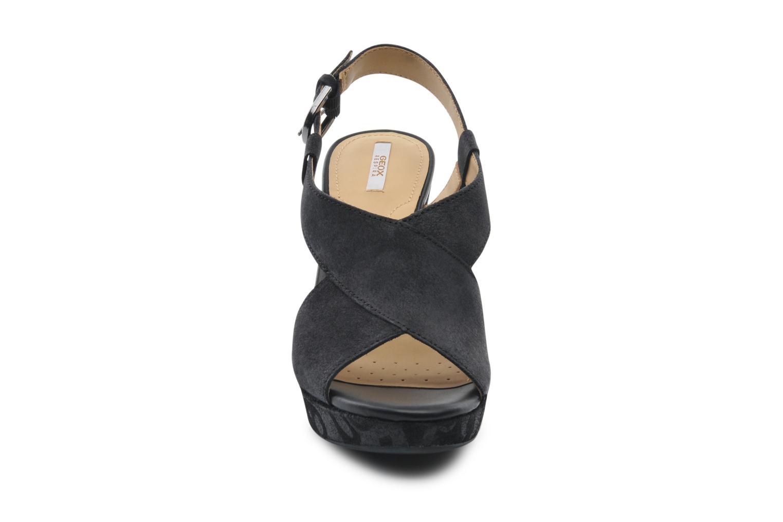 Sandali e scarpe aperte Geox D NURIT A D5271A Nero modello indossato