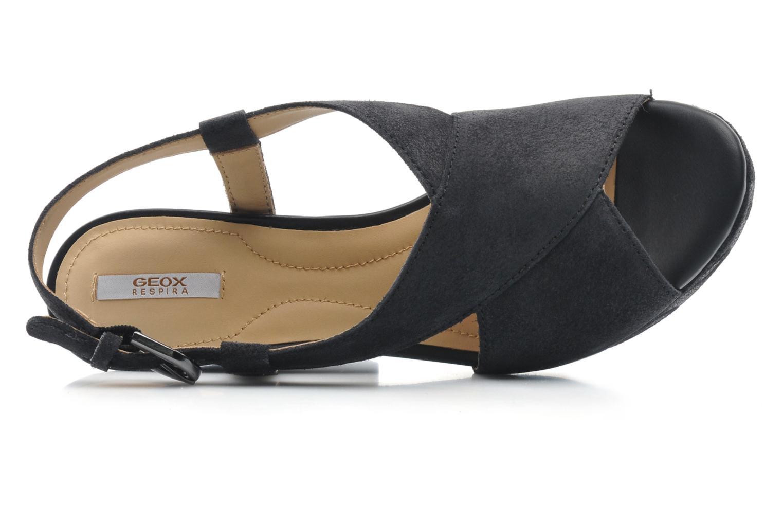 Sandali e scarpe aperte Geox D NURIT A D5271A Nero immagine sinistra
