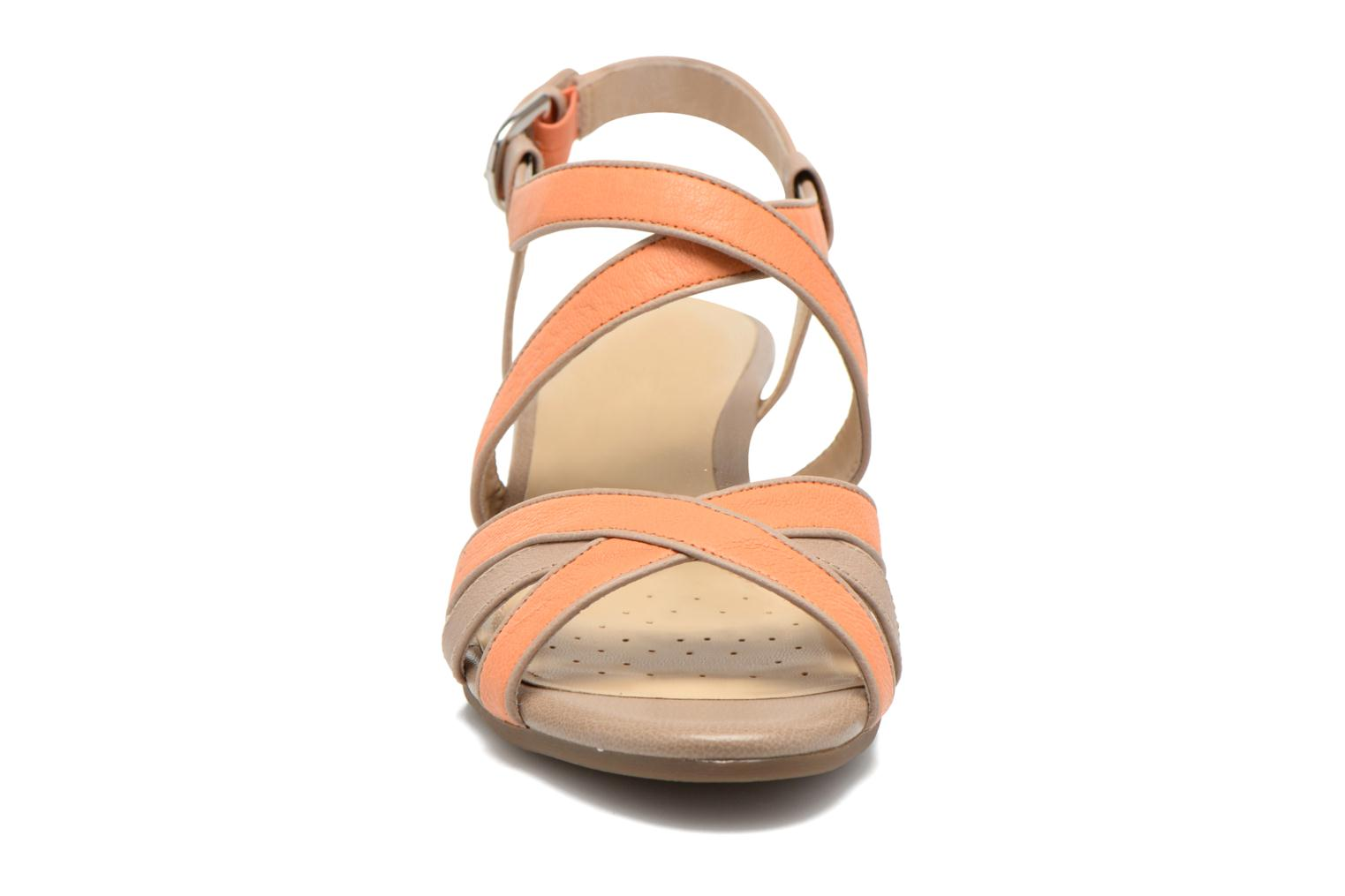 Sandals Geox D LUPE A D5283A Orange model view