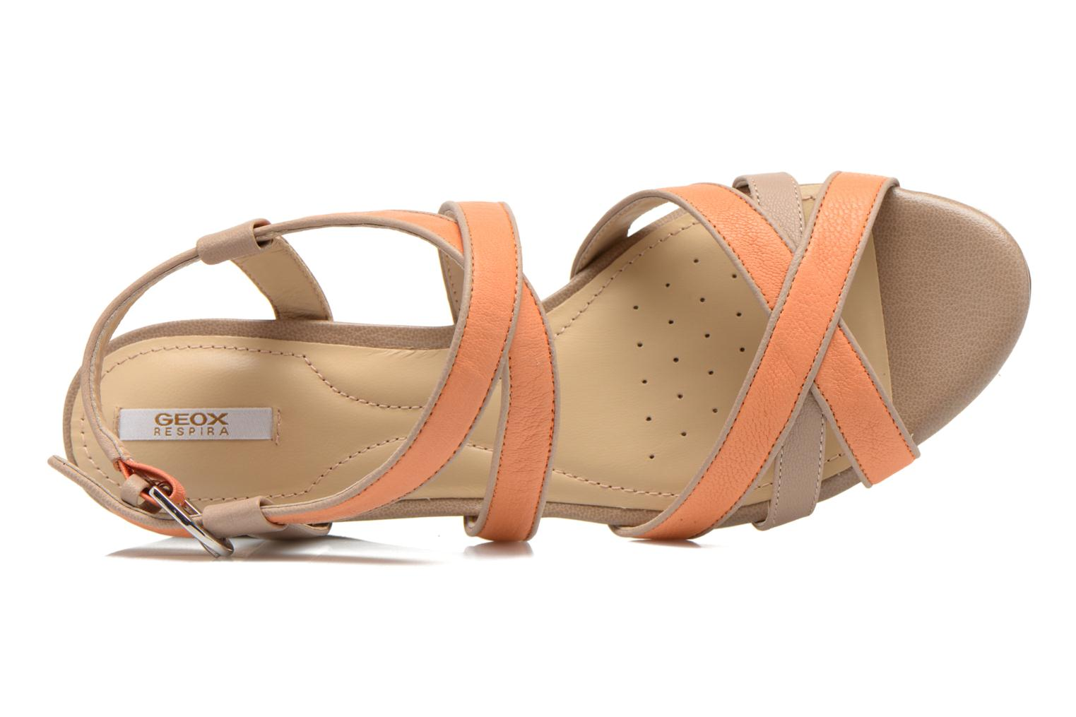 Sandals Geox D LUPE A D5283A Orange view from the left