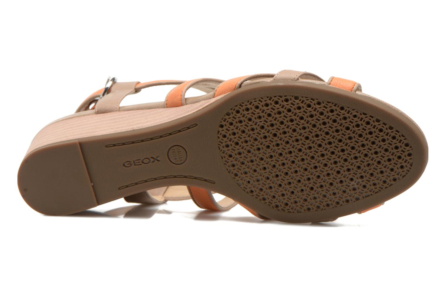 Sandals Geox D LUPE A D5283A Orange view from above