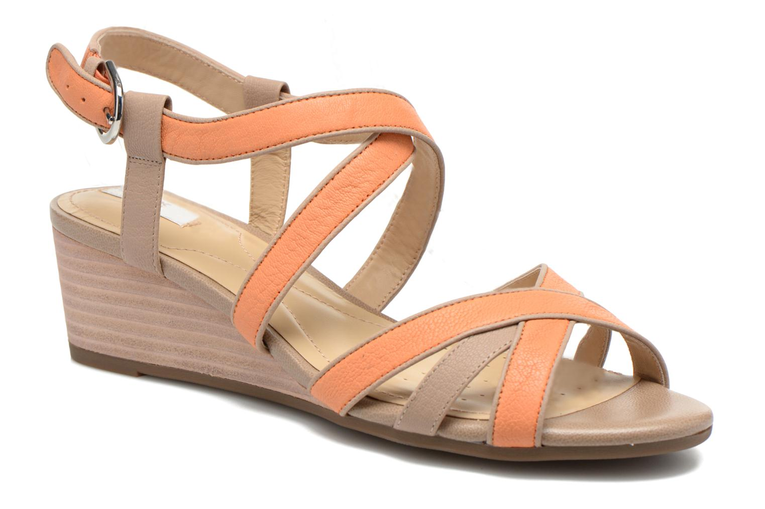 Sandals Geox D LUPE A D5283A Orange detailed view/ Pair view