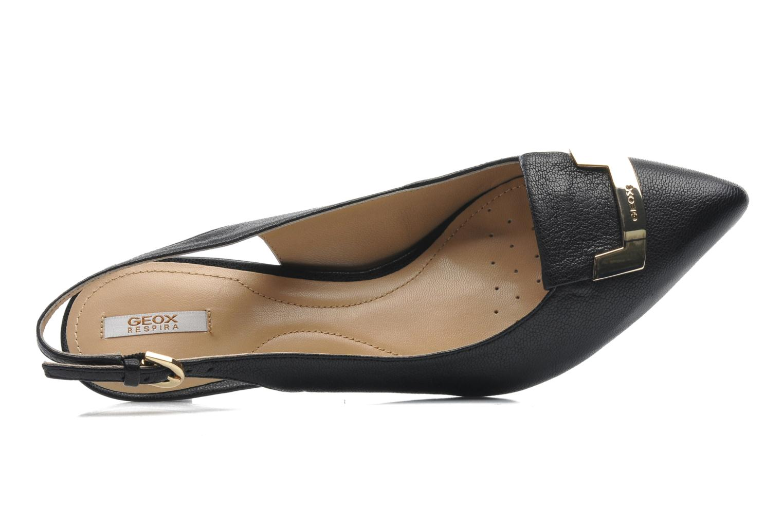 Zapatos de tacón Geox D ELINA D D52P8D Negro vista lateral izquierda