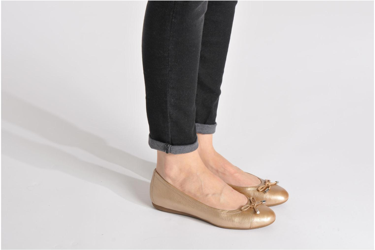 Ballet pumps Geox D LOLA A D93M4A Black view from underneath / model view