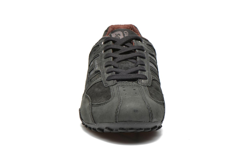 Baskets Geox U SNAKE K U4207K Noir vue portées chaussures