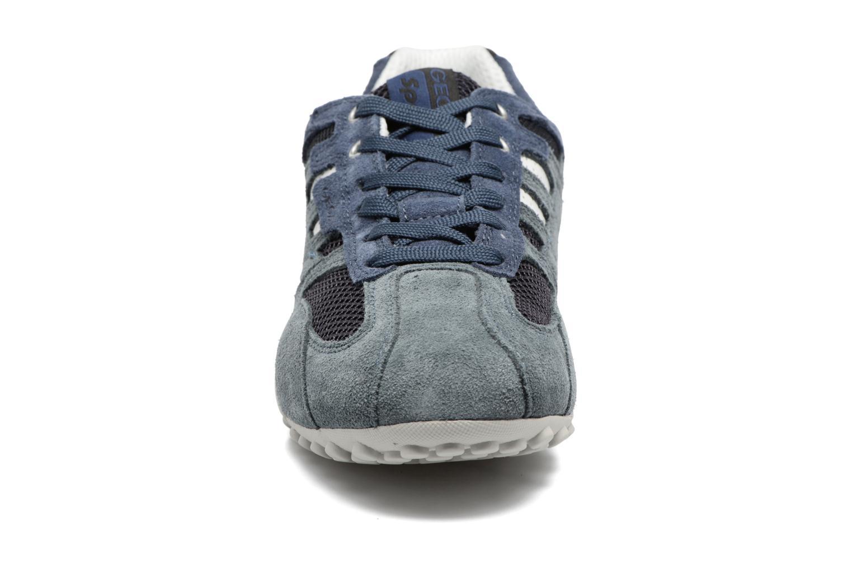 Baskets Geox U SNAKE K U4207K Bleu vue portées chaussures