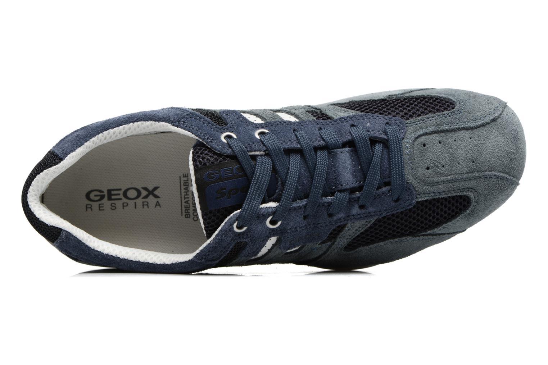 Baskets Geox U SNAKE K U4207K Bleu vue gauche
