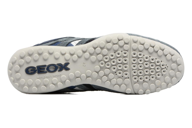 Baskets Geox U SNAKE K U4207K Bleu vue haut