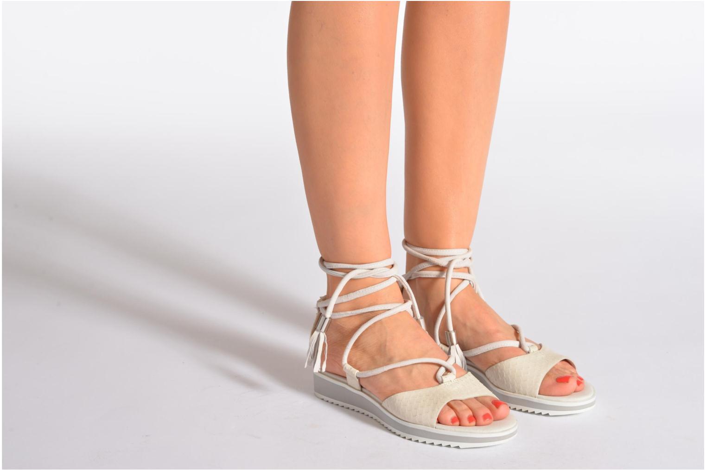Sandales et nu-pieds Geox By Patrick Cox D DANDELION A D5291A Blanc vue bas / vue portée sac