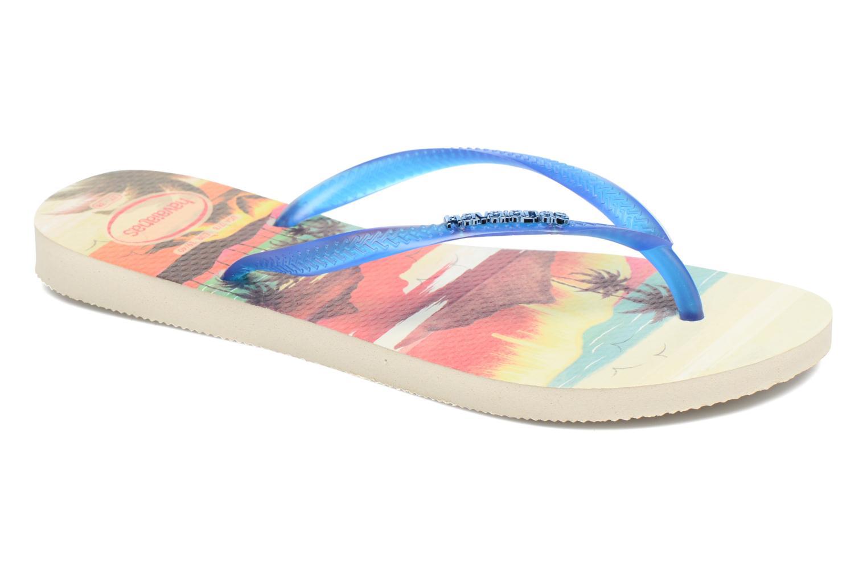 Zehensandalen Havaianas Slim Paisage beige detaillierte ansicht/modell