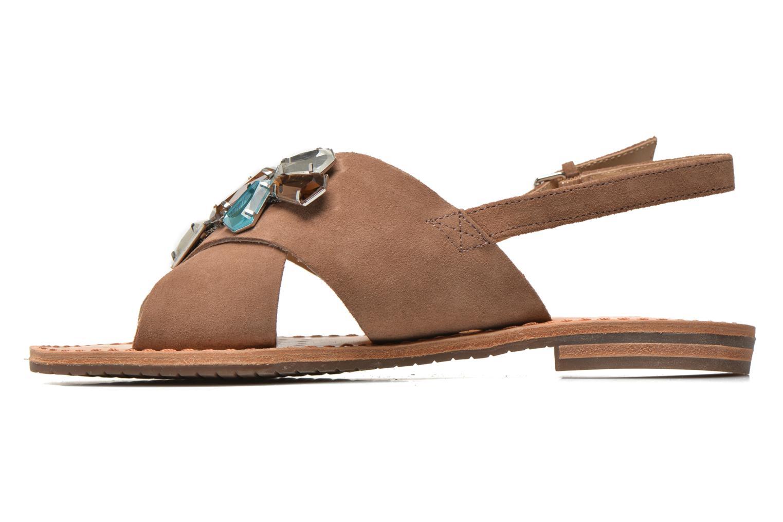 Sandals Geox D JOLANDA C D5275C Brown front view