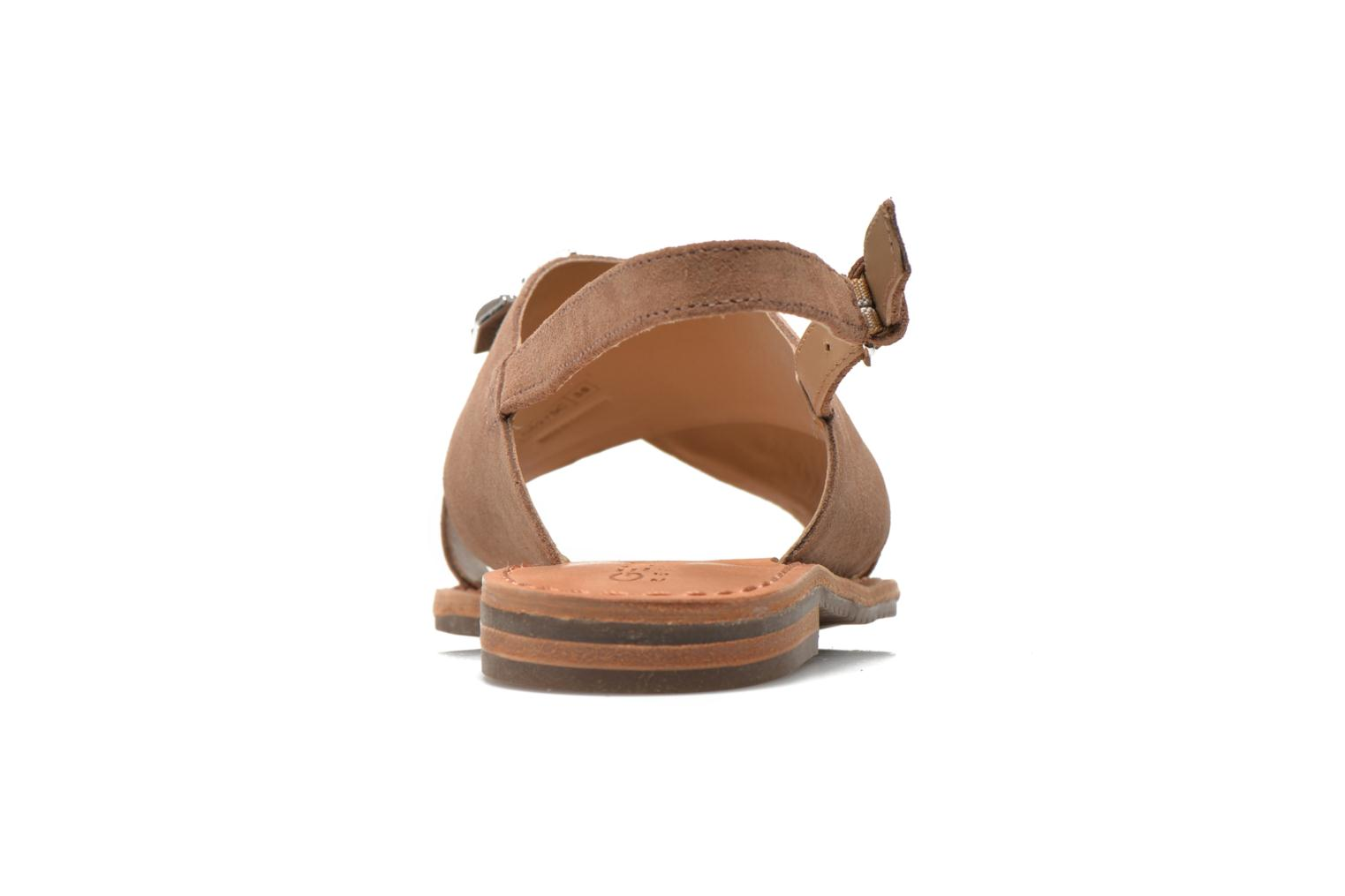 Sandals Geox D JOLANDA C D5275C Brown view from the right