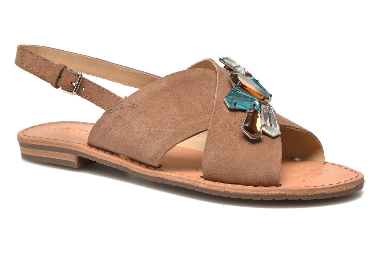 Sandales et nu-pieds Geox D JOLANDA C D5275C Marron vue détail/paire