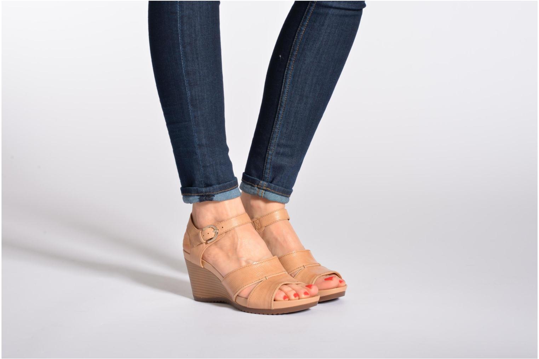 Sandales et nu-pieds Geox D NEW Rorie F D52P3F Noir vue bas / vue portée sac