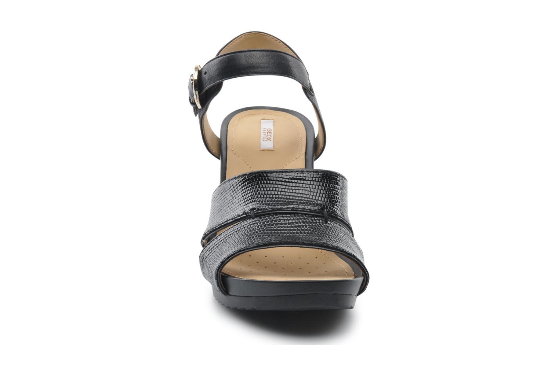 Sandales et nu-pieds Geox D NEW Rorie F D52P3F Noir vue portées chaussures