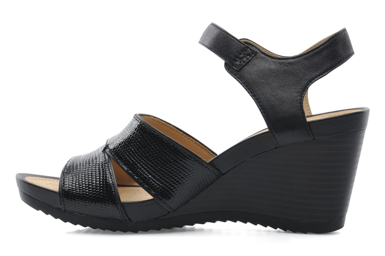 Sandales et nu-pieds Geox D NEW Rorie F D52P3F Noir vue face