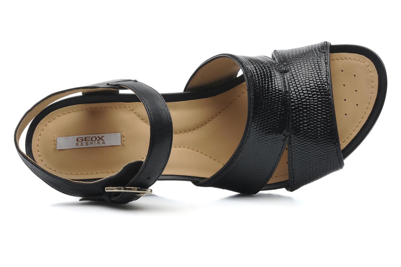 Sandales et nu-pieds Geox D NEW Rorie F D52P3F Noir vue gauche