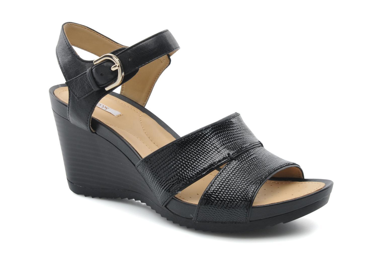 Sandales et nu-pieds Geox D NEW Rorie F D52P3F Noir vue détail/paire