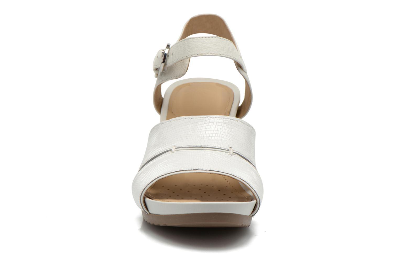 Sandalen Geox D NEW Rorie F D52P3F weiß schuhe getragen