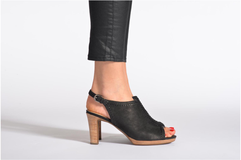 Sandales et nu-pieds Geox D LANA SAND B D52Q5B Noir vue bas / vue portée sac