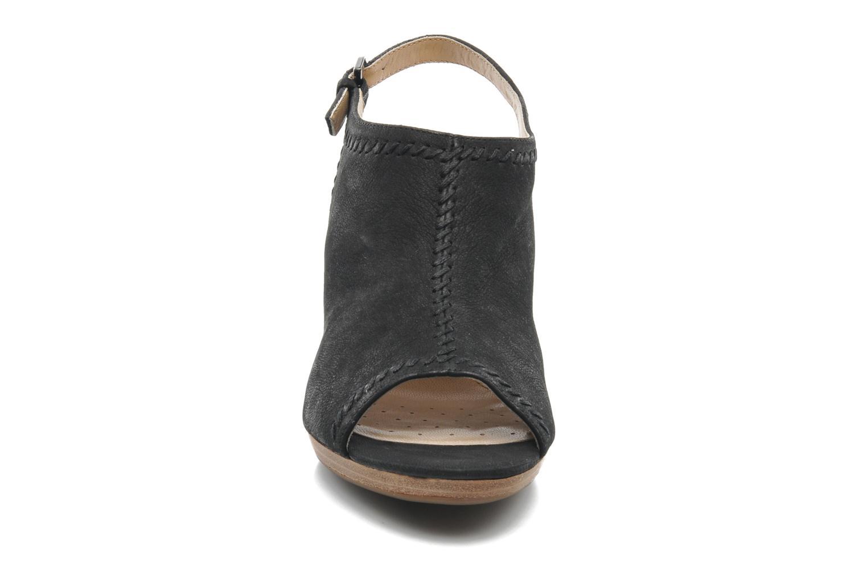 Sandales et nu-pieds Geox D LANA SAND B D52Q5B Noir vue portées chaussures