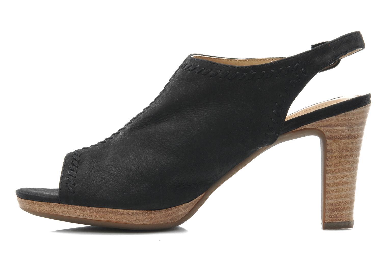 Sandales et nu-pieds Geox D LANA SAND B D52Q5B Noir vue face