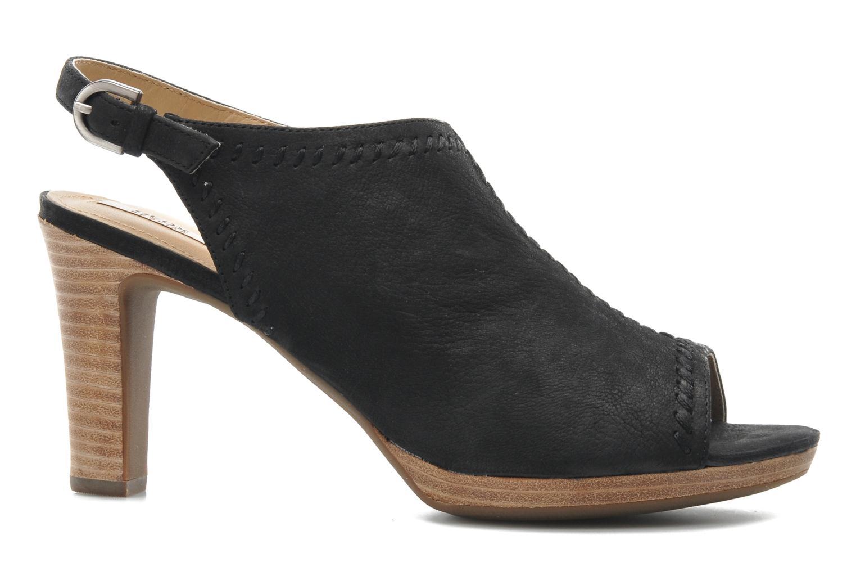 Sandales et nu-pieds Geox D LANA SAND B D52Q5B Noir vue derrière
