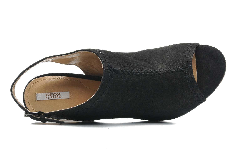 Sandales et nu-pieds Geox D LANA SAND B D52Q5B Noir vue gauche
