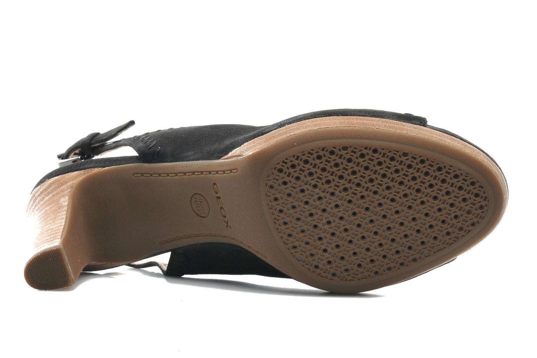 Sandales et nu-pieds Geox D LANA SAND B D52Q5B Noir vue haut