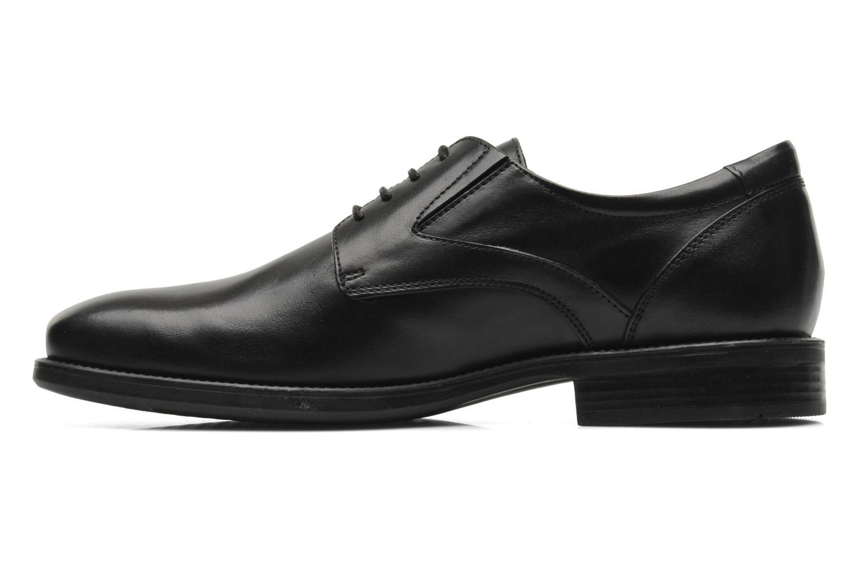 Lace-up shoes Geox U FEDERICO V U2257V Black front view
