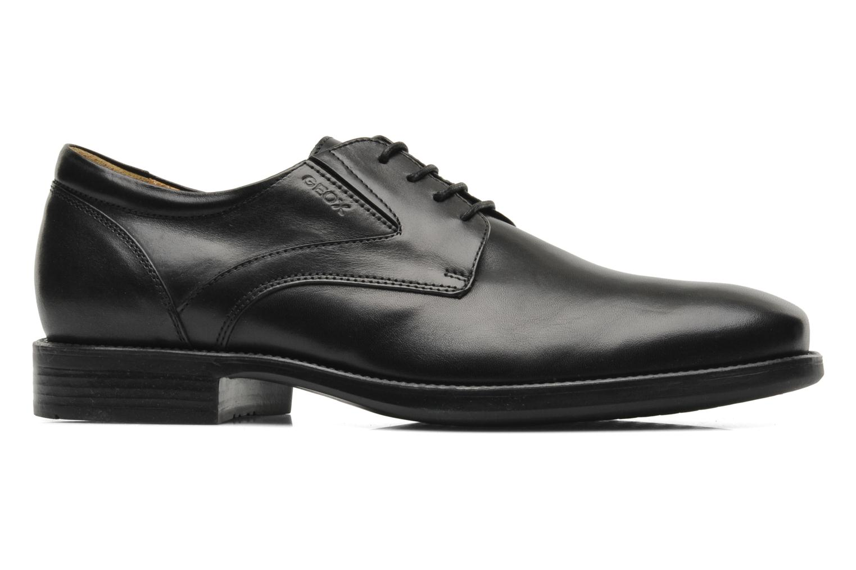 Lace-up shoes Geox U FEDERICO V U2257V Black back view