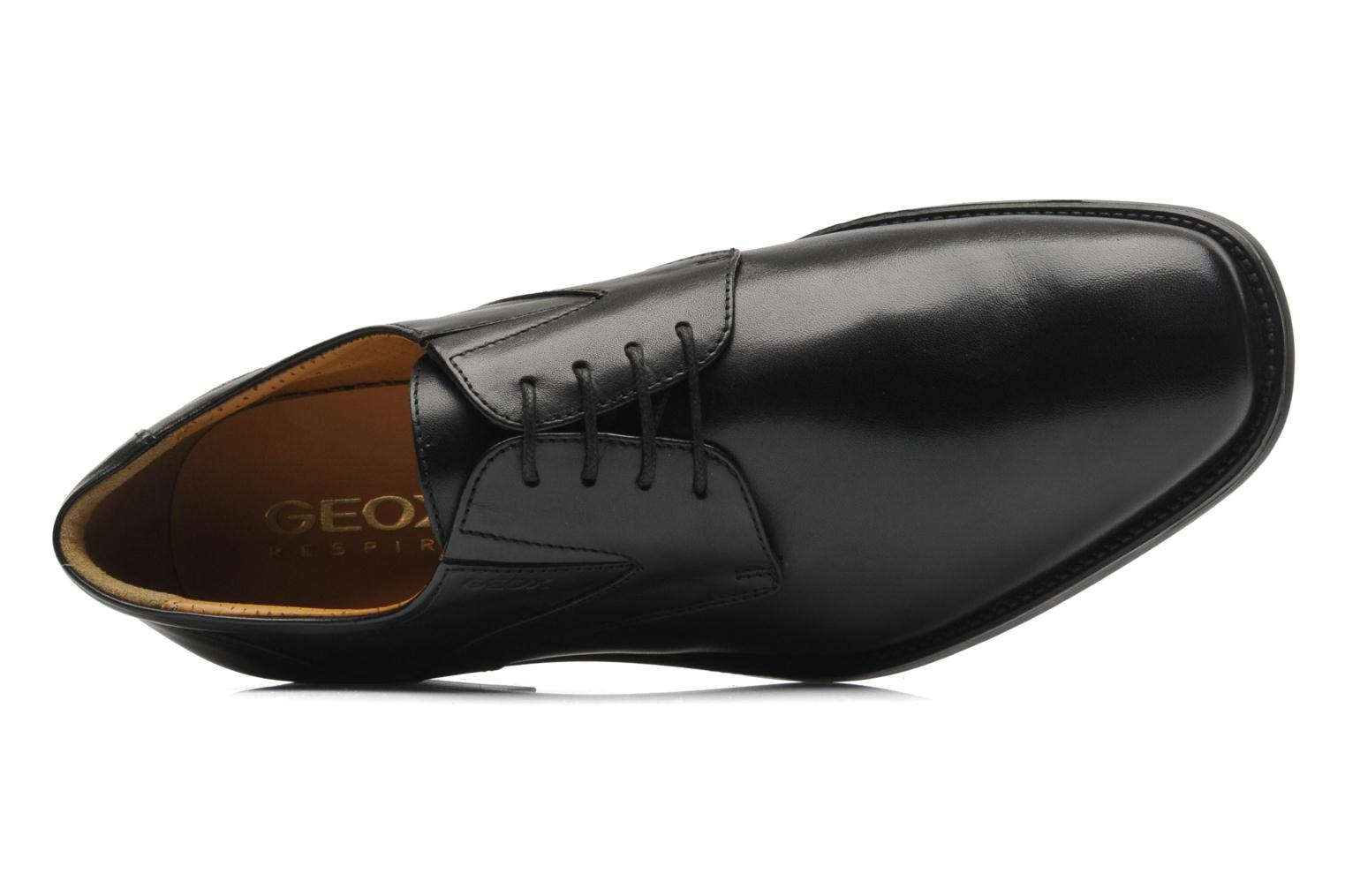 Lace-up shoes Geox U FEDERICO V U2257V Black view from the left