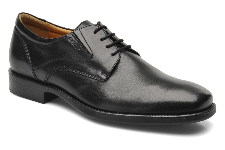 Lace-up shoes Geox U FEDERICO V U2257V Black detailed view/ Pair view