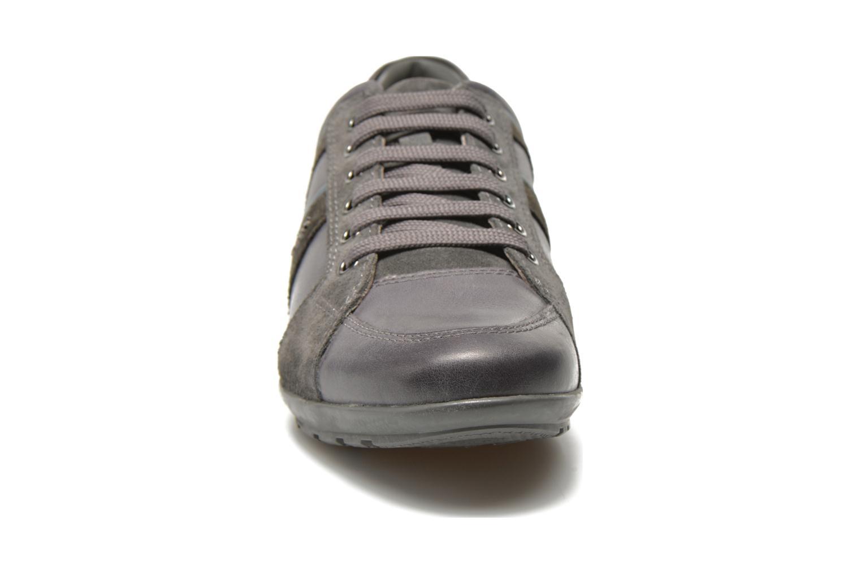 Sneaker Geox U SYMBOL A U52A5A grau schuhe getragen