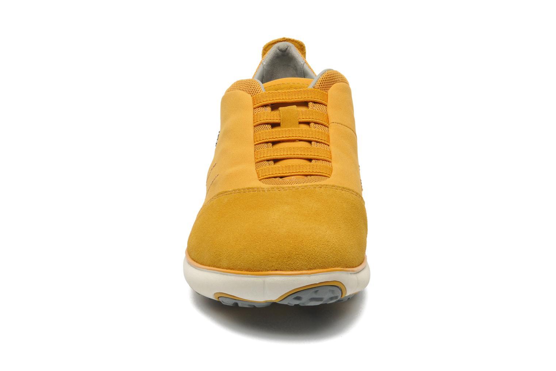 Sneaker Geox U NEBULA B U52D7B gelb schuhe getragen
