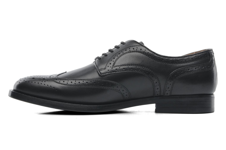 Lace-up shoes Geox U HAMPSTEAD D U52E3D Black front view