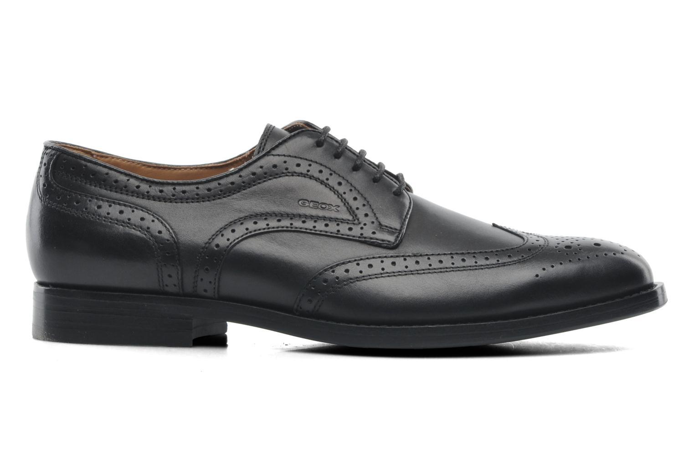 Lace-up shoes Geox U HAMPSTEAD D U52E3D Black back view