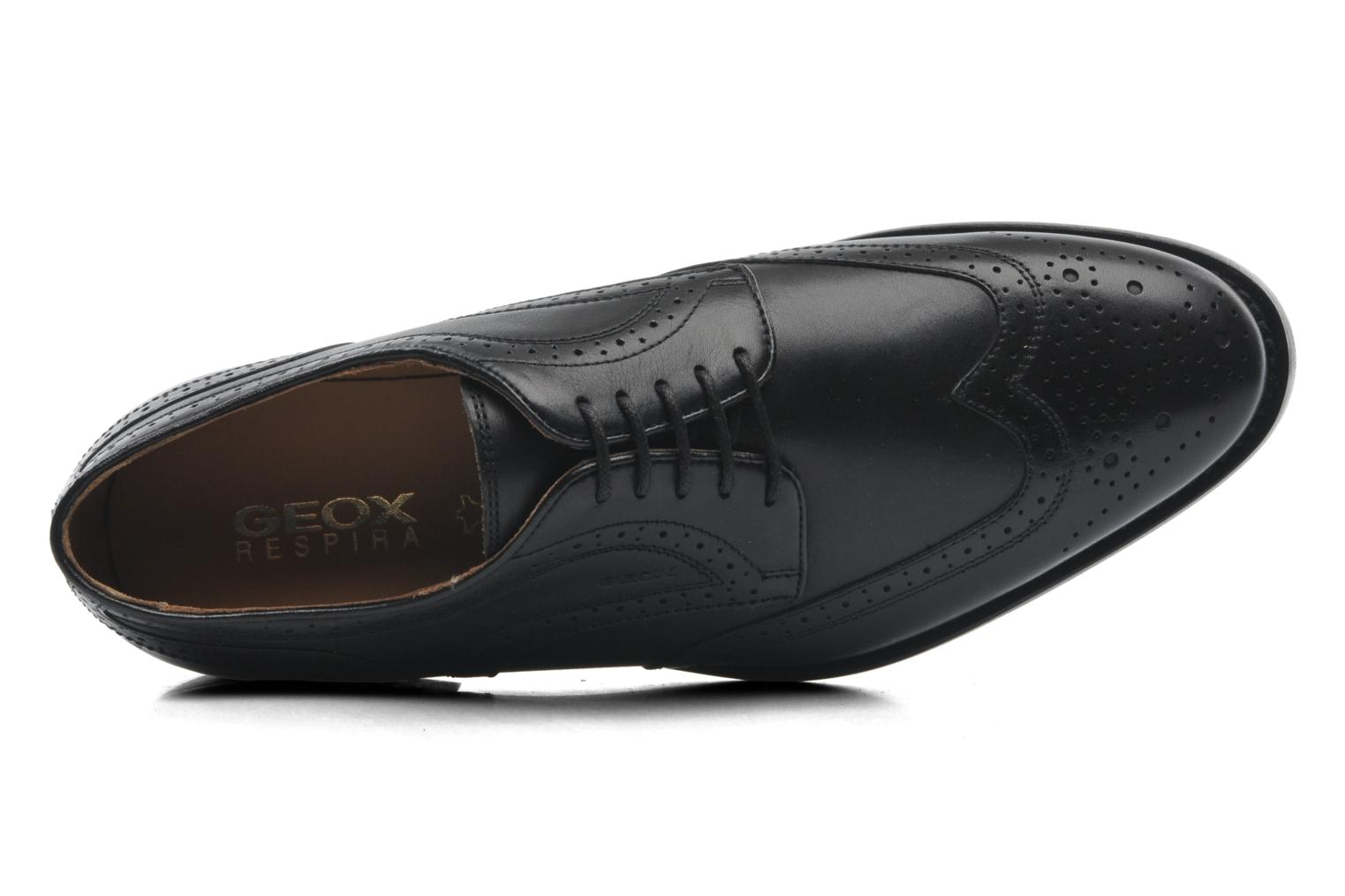 Lace-up shoes Geox U HAMPSTEAD D U52E3D Black view from the left