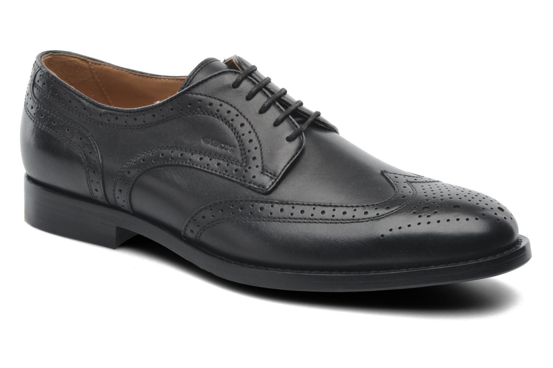 Lace-up shoes Geox U HAMPSTEAD D U52E3D Black detailed view/ Pair view
